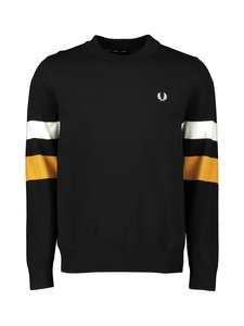 Fred Perry - Tipped Sleeve -neulepaita - 102 BLACK | Stockmann