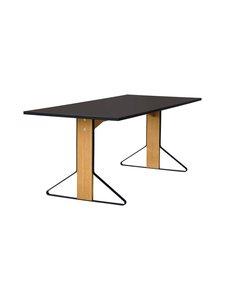 Artek - REB001 Kaari -pöytä, linoleum - BLACK LINOLEUM/NATURAL OAK (MUSTA/TAMMI) | Stockmann