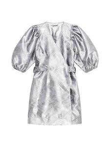 Ganni - Shiny Jaquard Dress -mekko - SHARKSKIN | Stockmann