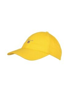 GANT - Cotton Twill Cap -lippalakki - 728 SOLAR POWER YELLOW   Stockmann