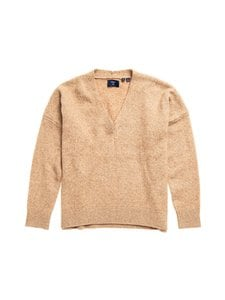 Superdry - Isabella Slouch Vee -neule - 3PG SOFT CARAMEL MARL | Stockmann