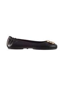 Tory Burch - Minnie Travel Ballet With Metal Logo -nahkaballerinat - 013 BLACK / GOLD | Stockmann