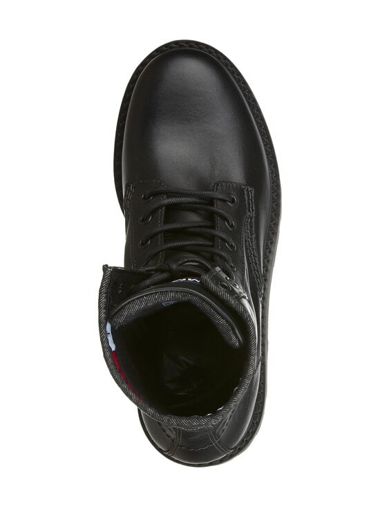 Tommy Hilfiger - Leather Lace Up Boots -nahkanilkkurit - BDS, BLACK | Stockmann - photo 2