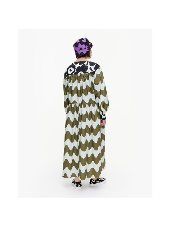 Marimekko - CO-CREATED Hohtosini dress -mekko - 116 DARK GREEN, OFF-WHITE, BLACK   Stockmann - photo 4