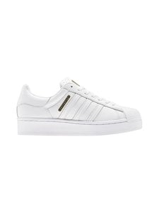 adidas Originals - W Superstar Bold -nahkatennarit - CLOUD WHITE/GOLD METALLIC/CORE BLACK | Stockmann