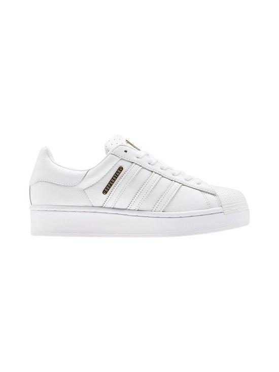 adidas Originals - W Superstar Bold -nahkatennarit - CLOUD WHITE/GOLD METALLIC/CORE BLACK   Stockmann - photo 1