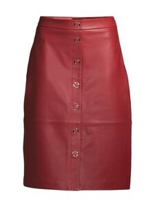 Ted Baker London - Deetra Leather Skirt -nahkahame - DK RED | Stockmann