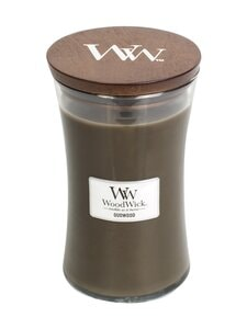 Woodwick - Oudwood Large -tuoksukynttilä - DARK GREY | Stockmann