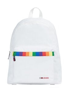 Tommy Hilfiger - Tjm Campus Dome Backpack Pride -reppu - YBR WHITE | Stockmann
