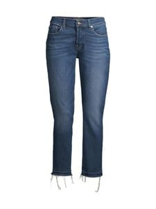 7 For All Mankind - Asher Luxe Vintage Pacific Grove With Pick Stitch Hem -farkut - MID BLUE | Stockmann