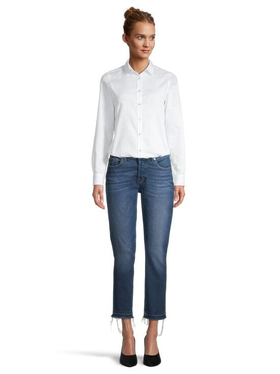 7 For All Mankind - Asher Luxe Vintage Pacific Grove With Pick Stitch Hem -farkut - MID BLUE | Stockmann - photo 2
