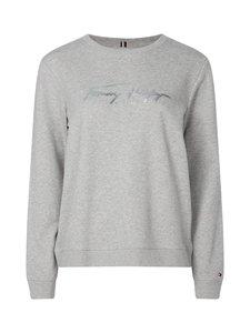 Tommy Hilfiger - Signature Logo Crew Neck Sweatshirt -collegepaita - P94 LIGHT GREY HTR | Stockmann