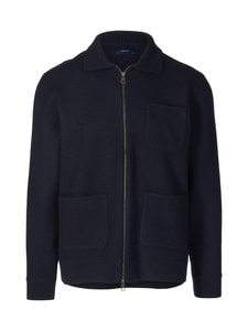 GANT - Boiled Knitted -neuletakki - 433 EVENING BLUE | Stockmann