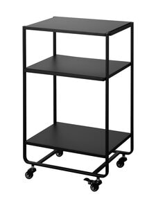 Yamazaki - Tower Three-Tier Rolling Server Cart -tarjoiluvaunu 38 x 49 x 81,5 cm - BLACK | Stockmann