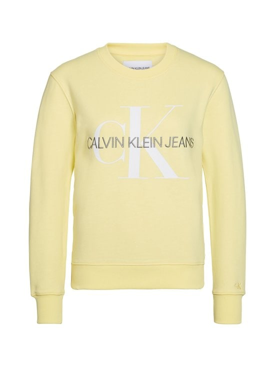 Calvin Klein Jeans - Vegetable Dye Monogram Crew Neck -collegepaita - ZHH MIMOSA YELLOW | Stockmann - photo 1