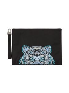 Kenzo - Canvas Kampus Tiger Pouch -laukku - 99F BLACK | Stockmann