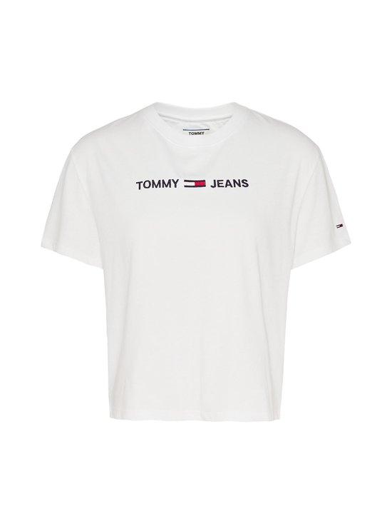 Tommy Jeans - Tjw Modern Linear Logo Tee -paita - YBR WHITE | Stockmann - photo 1