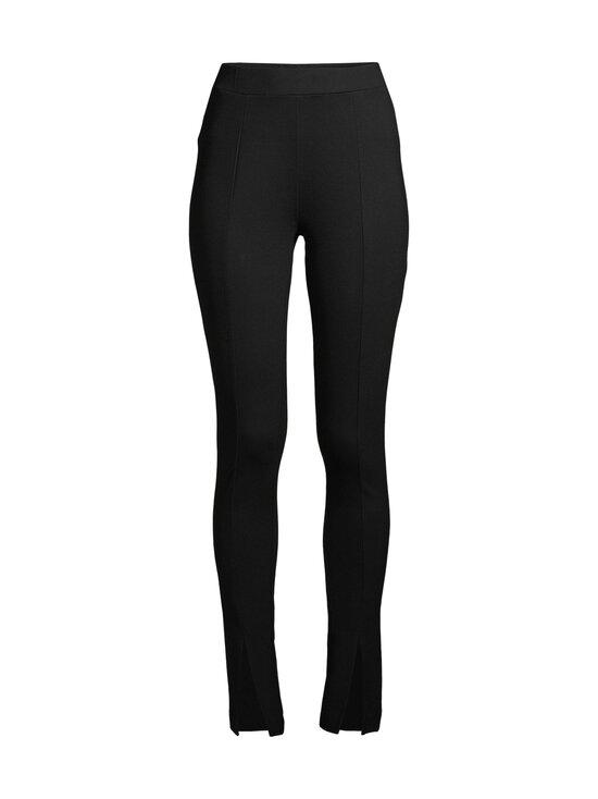NA-KD - Front Slit Jersey Pants -housut - BLACK   Stockmann - photo 1