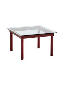 HAY - Kofi-pöytä 60 x 60 cm - BARN RED / CLEAR GLASS | Stockmann