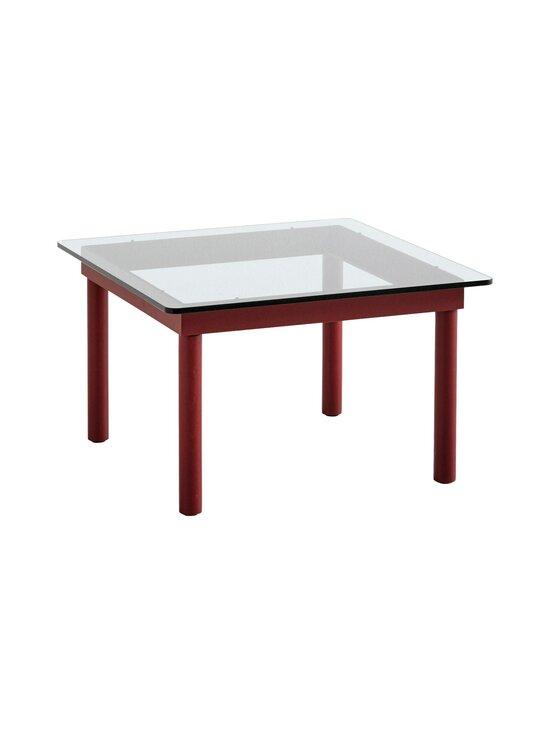 HAY - Kofi-pöytä 60 x 60 cm - BARN RED / CLEAR GLASS | Stockmann - photo 1