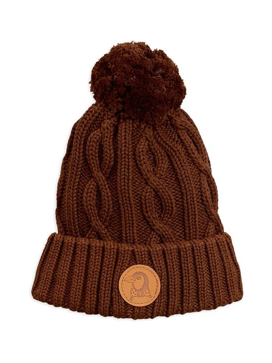 Mini Rodini - Penguin Knit Beanie -pipo - BROWN | Stockmann - photo 1