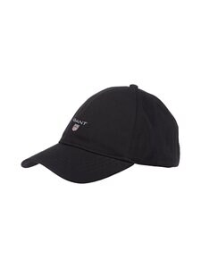 GANT - Cotton Twill Cap -lippalakki - 5 BLACK | Stockmann