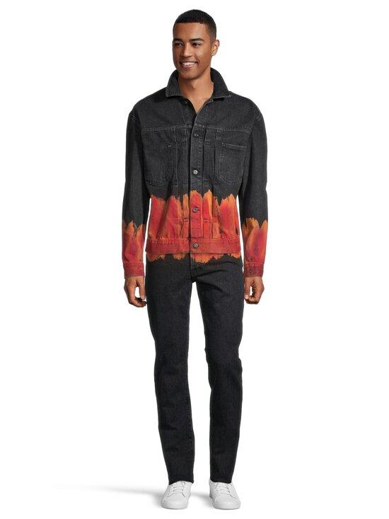 MARCELO BURLON - Bleach Flames Slim Denim -farkut - 1025 BLACK RED   Stockmann - photo 2