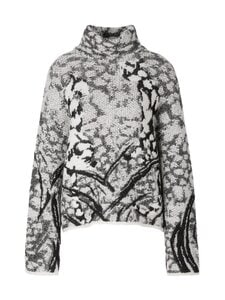 Marc Cain - Sweater Print -neule - 190 WHITE AND BLACK | Stockmann