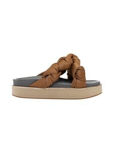 Ganni - Mid Knotted -sandaalit - 194 CHIPMUNK | Stockmann