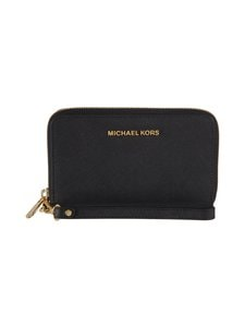 Michael Michael Kors - Jet Set Travel Large Multifunction -nahkalompakko - BLACK (MUSTA) | Stockmann