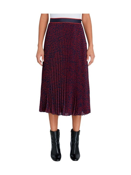 Tommy Hilfiger - Bali Pleated Midi -hame - 09P TOMMY SCRIPT PRT / NIGHT SKY / RED | Stockmann - photo 3