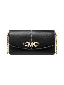 Michael Michael Kors - Izzy Large Logo Embellished Pebbled Leather Clutch -nahkalaukku - 001 BLACK   Stockmann