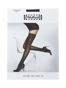 Wolford - Velvet De Luxe -stay-up-sukat 50 den - BLACK | Stockmann