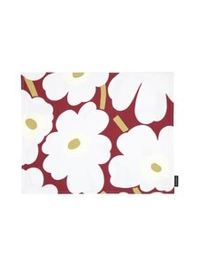 Marimekko - Pieni Unikko -tabletti 31 x 42 cm - 391 DARK RED, LIGHT GRAY, OFF-WHITE | Stockmann