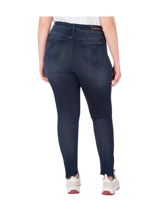 Calvin Klein Jeans Plus - Plus Size High Rise Skinny Ankle Jeans -farkut - 1BJ BB234 - BLUE BLACK LOGO ZIP HEM | Stockmann - photo 2