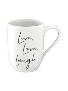 Villeroy & Boch - Live Love Laugh -statement-muki - BLACK WHITE   Stockmann