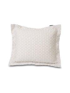 Lexington - Printed Cotton Sateen -tyynyliina - WHITE/DK BEIGE   Stockmann