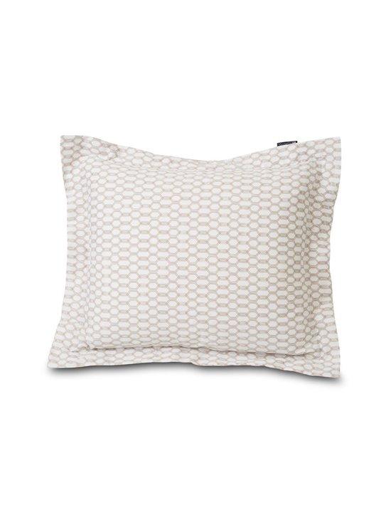 Lexington - Printed Cotton Sateen -tyynyliina - WHITE/DK BEIGE   Stockmann - photo 1