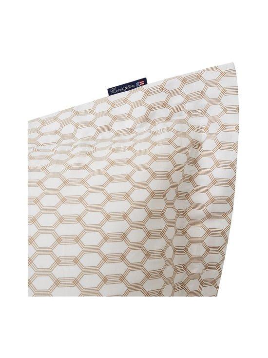Lexington - Printed Cotton Sateen -tyynyliina - WHITE/DK BEIGE   Stockmann - photo 3