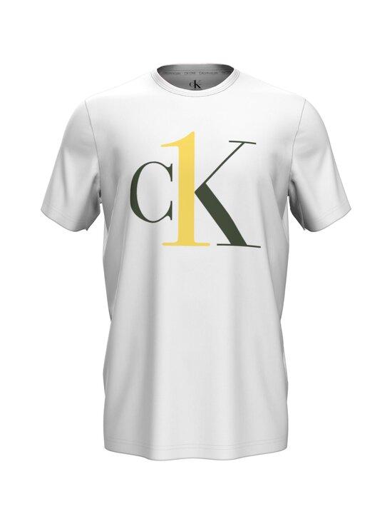 Calvin Klein Underwear - Crew Neck -paita - KLR WHITE W/ CANARY LOGO | Stockmann - photo 1