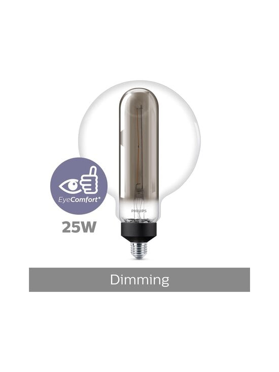 Philips - LED Smoky Double Layers Dimmable 25W E27 -lamppu - GREY | Stockmann - photo 4