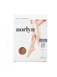 Norlyn - Matt Comfort 20 den -nilkkasukat 2-pack - POWDER (BEIGE) | Stockmann