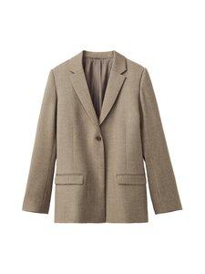 Totême - Wool Flannel -villakangasbleiseri - BEIGE | Stockmann