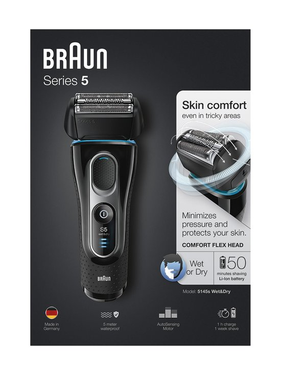 Braun - Series 5 Shaver 5145s -parranajokone - MUSTA | Stockmann - photo 1