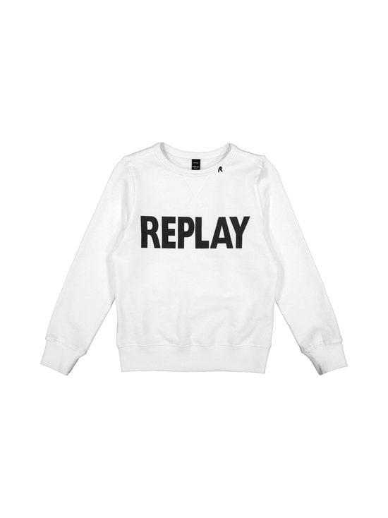 Replay & Sons - Cotton Fleece -paita - 001 OPTICAL WHITE | Stockmann - photo 1