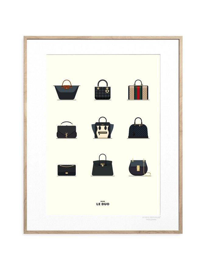 Le Duo Bags -juliste 40 x 50 cm