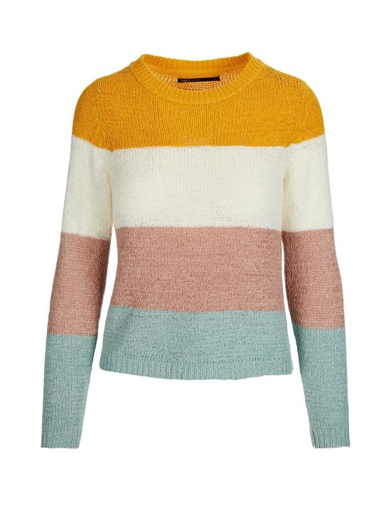Only - OnlGeena-neule - GOLDEN APRICOT STRIPES:CLOUD DANCER/MISTY ROSE/ETHER   Stockmann - photo 1