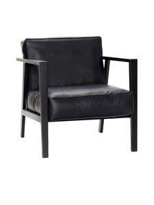 Andersen - LC1 Loungechair -nojatuoli, musta - WOOD BLACK, TREATMENT BLACK LACQUER, LEATHER SEVILLA - BLACK 4001   Stockmann