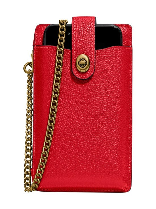 Coach - Turnlock Chain Phone Crossbody -nahkalaukku - GD/ELECTRIC RED | Stockmann - photo 1