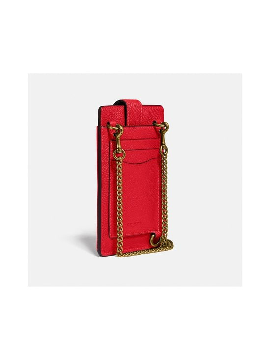 Coach - Turnlock Chain Phone Crossbody -nahkalaukku - GD/ELECTRIC RED | Stockmann - photo 3